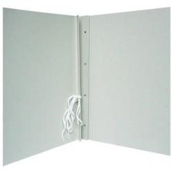 Segtuvas, archyvinis, baltas kartonas, 300 g/m2, su spauda, 4 cm nugarėlė, su raišteliais. ECO