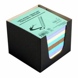 Lapeliai užrašams, 9x9 cm, 500 lapelių, įvairių spalvų, raudonos spalvos dėžutėje