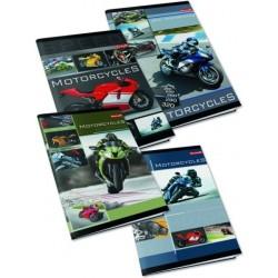 Sąsiuvinis MOTORS, A5, 32 l., langeliais, laminuotas viršelis