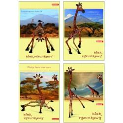 Piešimo sąsiuvinis GIRAFFE, A4, 20 lapų