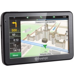 "Prestigio GeoVision 5058 (5.0"", TFT, 480х272, Win CE 6.0, CPU MSTAR 2531A 800 MHz, 128 MB RAM, 4 GB internal, FM, 950 mAh, Black"