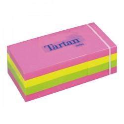 Lipnūs lapeliai TARTAN, 38 x 51 mm, 100 lapelių, įvairios spalvos