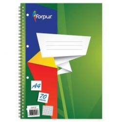 Sąsiuvinis su spirale FORPUS, A4, 70 lapų, langeliais