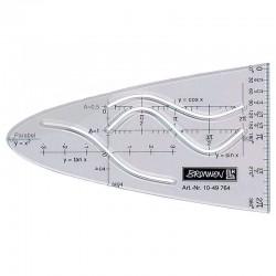 Liniuotė-parabolė BRUNNEN, skaidri