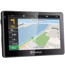 GPS navigacija Prestigio GeoVision 5057, 8GB MicroSD kortelė, Europos žemėlapiai. Tinka sunkvežimiams!