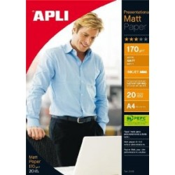 Foto popierius APLI MATT PAPER, A4, 170 g/m2, 20 lapų