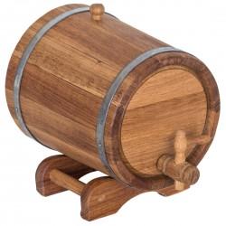 Bačkutė gėrimams 5 l, naudingas suvenyras, ąžuolinis