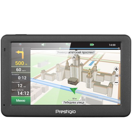 "Prestigio GeoVision 5059, 5.0"" LCD display, 480х272pixels, 800 MHz, 128 MB DDR, 4 GB Flash, 950 mAh battery, Color / dark grey"