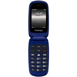 Prestigio Grace B1, 2.4''(240*320) 2.5D display, Dual SIM, 32MB DDR, 32MB Flash, 0.3MP rear cammera, 750mAh battery, color/Blue