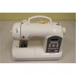 SALE OUT. Singer SMC 8770 Curvy Sewing Machine, White Singer REFURBISHED. WITHOUT ORIGINAL PACKAGE AND MANUALS., 1 year(s)