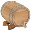 Statinė gėrimams 15 l, ąžuolinė. Išskirtinė kokybė, nerūdijančio plieno lankai (pristatymas 3-5 sav.)