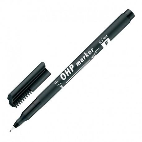Žymiklis ICO OHP F, permanentinis, 0,5 mm, apvaliu galu, juodos sp.