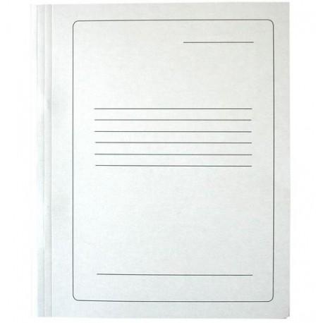 Segtuvas, baltas kartonas, su įsegėle 300 g/m2, A4 formato su spauda