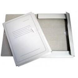 Aplankas su raišteliais, baltas su spauda, 300 g/m2, A4 formato
