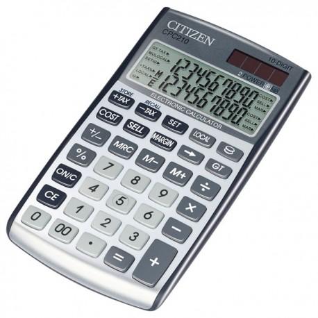 Skaičiuotuvas Citizen CPC-210 su valiutos konvertavimo funkcija