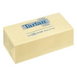 Lipnūs lapeliai TARTAN, 38 x 51 mm, 100 lapelių, geltona
