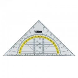 Trikampė liniuotė BRUNNEN, 16 cm, skaidri