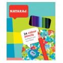 Spalvoti pieštukai NATARAJ, 24 spalvų, su drožtuku