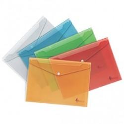 Aplankas (vokas) su spaustuku , A4, PP, geltona