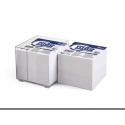 Lapeliai užrašams dėžutėje FORPUS, 9x9cm, 800 lapelių, baltos spalvos
