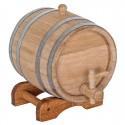 Statinė gėrimams 3 l, ąžuolinė. Išskirtinė kokybė, nerūdijančio plieno lankai