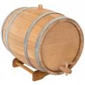 Statinė gėrimams 50 l, ąžuolinė. Išskirtinė kokybė, nerūdijančio plieno lankai