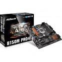 ASRock B150M PRO4S, B150, DualDDR4-2133, SATA3, HDMI, DVI, mATX