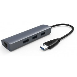 USB 3.0 to 3-Port USB3.0 HUB with Gigabi