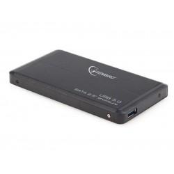 HDD korpusas Gembird skirtas 2.5'' SATA - USB3, Aliuminis, Juodas