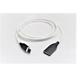 b mark i NAUJIENA! /i /b /mark Silikoninis kabelis USB-Micro USB (baltas,1m)