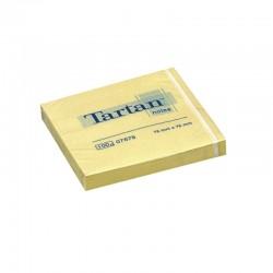 Lipnūs lapeliai TARTAN, 76 x 76 mm, 100 lapelių, geltona