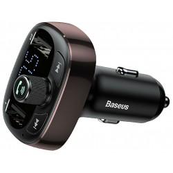"Automobilinis FM moduliatorius Baseus 12-24V su ""Bluetooth"" funkcija 1.56"" LED ekranas, juodas"