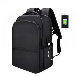 MiniMu All Black kuprinė, 15,4″ su USB jungtimi, juoda
