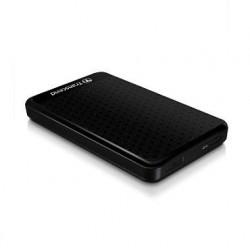 External HDD|TRANSCEND|StoreJet|1TB|USB 3.0|Colour Black|TS1TSJ25A3K
