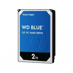 HDD|WESTERN DIGITAL|Blue|2TB|SATA 3.0|256 MB|5400 rpm|3,5"