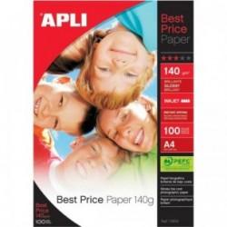 Foto popierius APLI BEST PIRCE, A4, 140 g/m2, 100 lapų. Rašaliniam spausdintuvui