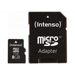 MEMORY MICRO SDHC 8GB C10/W/ADAPTER 3413460 INTENSO
