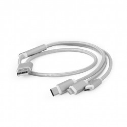 CABLE USB CHARGING 3IN1 1M/SILV CC-USB2-AM31-1M-S GEMBIRD
