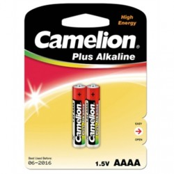 Camelion Plus Alkaline AAAA 1.5V (LR61), 2-pack (for toys, remote control and similar devices) Camelion