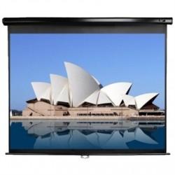 "Elite Screens Manual Series M113UWS1 Diagonal 113 "", 1:1, Viewable screen width (W) 203 cm, Black"