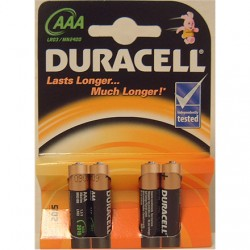 Duracell AAA/LR03, Alkaline Basic MN2400, 4 pc(s)
