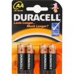 Duracell AA/LR6, Alkaline Basic MN1500, 4 pc(s)