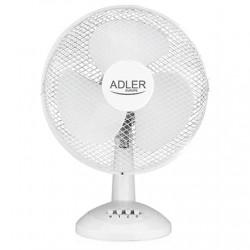 Adler AD 7303 Desk Fan, Number of speeds 3, 80 W, Oscillation, Diameter 30 cm, White