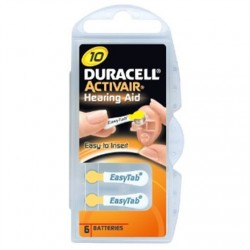 Duracell A10/DA10/ZL10, Zinc air cells, 6 pc(s)