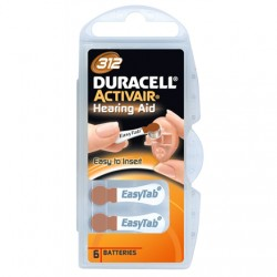 Duracell A312/DA312/ZL312, Zinc air cells, 6 pc(s)
