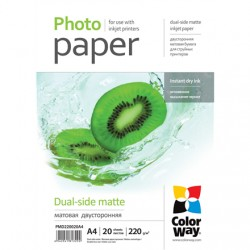 ColorWay Matte Dual-Side Photo Paper, 20 sheets, A4, 220 g/m²