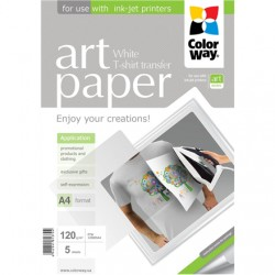 ColorWay ART Photo Paper T-shirt transfer (white), 5 sheets, A4, 120 g/m²