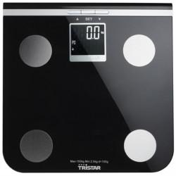 Svarstyklės Tristar Maksimalus svoris (talpa) 150 kg, Tikslumas 100 g, Atminties funkcija, 10 naudotojas(-ai), Black