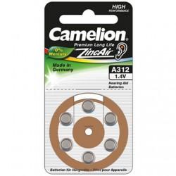 Camelion A312/DA312/ZL312, Zinc air cells, 6 pc(s)