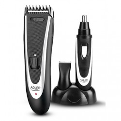 Adler AD 2822 Hair clipper + trimmer, 18 hair clipping lengths, Thinning out function, Stainless steel blades, Black